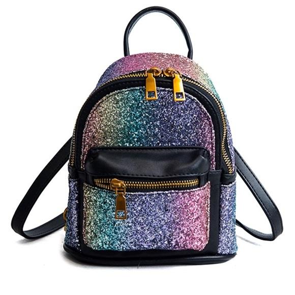 bcc8537508d6 Handbags - Rainbow glitter MINI backpack